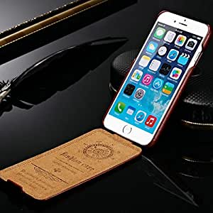 """10 pcs/lot Vintage Flip PU Leather Case for iPhone 6 6G 4.7"""" Phone Bag Stylish Brown Black with fashion logo Wholesale --- Color:Red"""