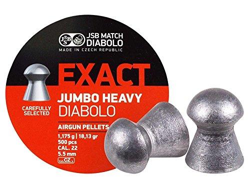 JSB 546287-500 Jumbo Exact Heavy Air Gun Pellets .22 Cal, 18.1 Grains, - Air Pellets Arms