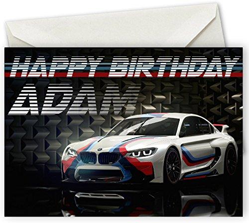 BMW Personalisierte Geburtstagskarte, A5, Inklusive Briefumschlag