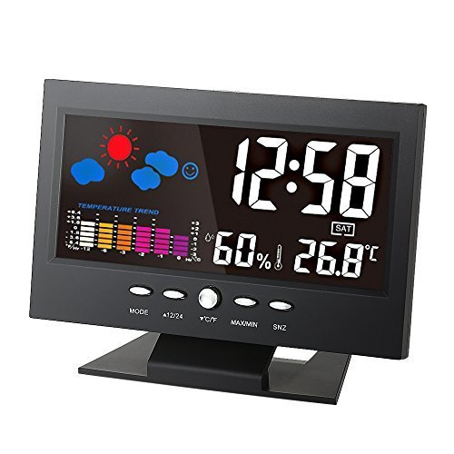 KKmoon °C/°F Multifunctional Indoor Colorful LCD