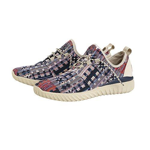 Dude Shoes Men's Renova Incas Red Urban Trainer Multi Colour