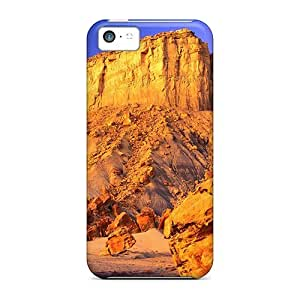 lintao diy Defender Case With Nice Appearance (monument Rock Shedding Rocks) For Iphone 5c