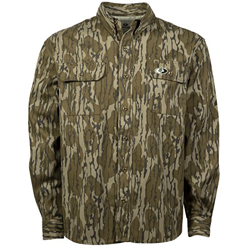 Mossy Oak Camouflage Cotton Mill Hunt Shirt, Original Bottomland, X-Large
