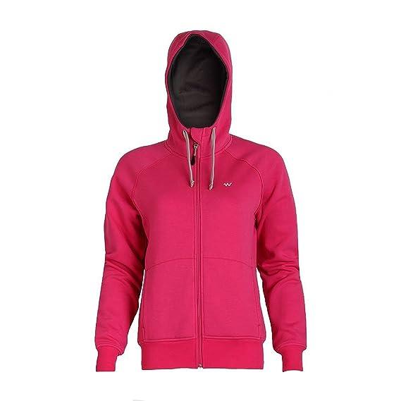 aa4fcf8ae78 Wildcraft Women S Sweatshirt Zipper For Winter - Pink  Amazon.in  Watches