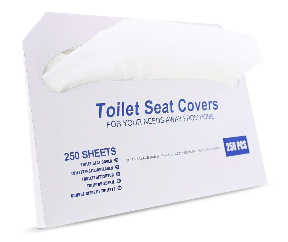 Paper Toilet Seat Covers - Disposable - Half-Fold Toilet Seat Cover Dispensers - White - 4 Pack of 250-14''L x0.1''W x 16''H by Juvale (Image #6)