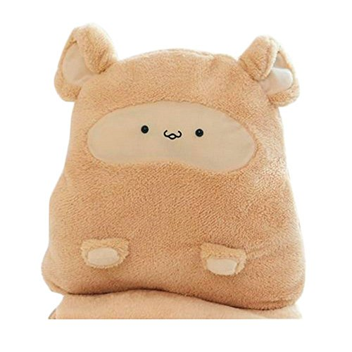 Kangkang@ Plush Birthday Gift Dakimakura/throw Pillow(40cm),brown Mouse Bear Cute Air Conditioning Is Kaka Rat Pillow Hand Over Blanket Quilt Amphibious Cushion for Leaning on of Air Conditioning