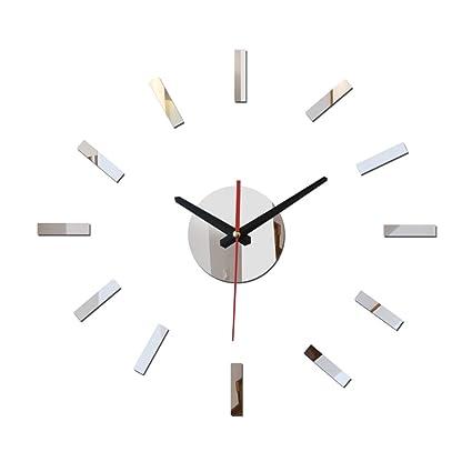 Mznm 2017 New Sale 3D Acrylic Mirror Wall Clock Reloj De Pared Watch Large Decorative Quartz