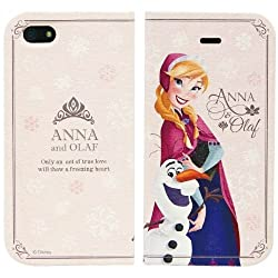 Disney Frozen Anna & Olaf Flip Case Magnet Type For Iphone 5/5s