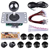 Cheap Quimat DIY Arcade Game Button and Joystick Controller Kit for Rapsberry Pi and Windows,5 Pin Joystick and 10 Push Buttons