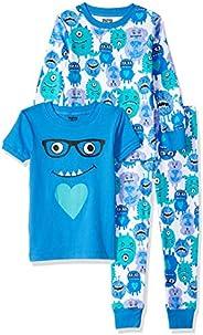 Amazon Brand - Spotted Zebra Girl's Snug-Fit Cotton Pajamas Sleepwear