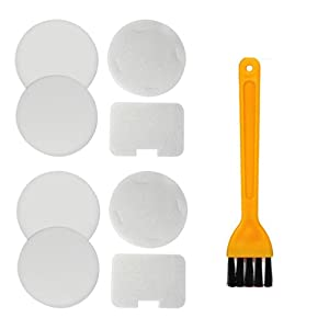 HIFROM Replacement Foam & Felt Filter Kit with Cleaning Brush for Shark Navigator NV22 UV410 NV22L NV22C NV22T NV22Q Vacuum Cleaners Part# XF22 (2 Set + Cleaning Brush)
