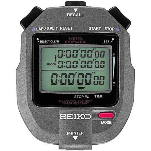 300 Lap Memory Stopwatch Connectable to Printer by Seiko Timers