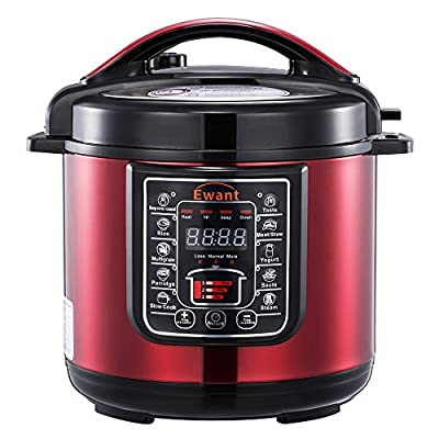 Ewant 9-in-1 Multi-Functional Electric Pressure Cooker, 6Qt / 3PressureSetting / 1000W