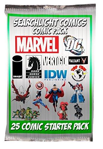 Comic Book Pack (SearchLight Comics 25 Comic Book Collector Starter Set + Bonus Searchlight Comics Sticker)
