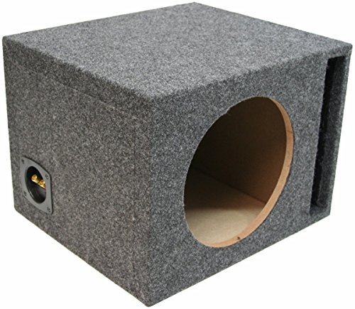 ASC Single 12″ Subwoofer Universal Fit Vented Port Sub Box Speaker Enclosure