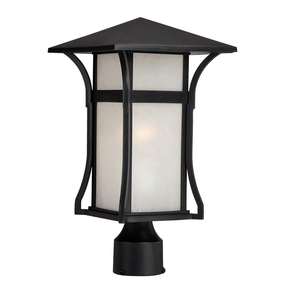 Acclaim 96027BK Tahiti Collection 1-Light Outdoor Light Fixture Post Lantern, Matte Black