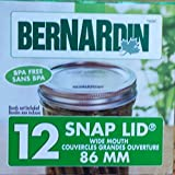 Bernardin Mason Jar Lids - Wide
