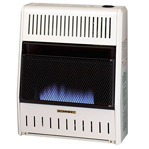 Procom Blue Flame - Procom ML200HBA Ventless Liquid Propane Gas Blue Flame Space Heater - 20,000 BTU, Manual Control