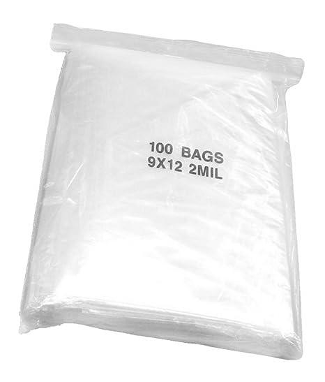 Amazon.com: 100 Bolsas de plástico transparente bolsa de ...