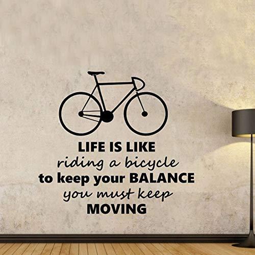 luludsoo La Vida es como Andar en Bicicleta Pegatinas de Pared ...