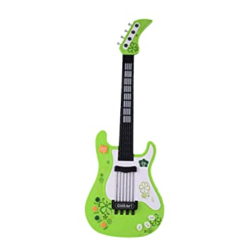 MRKE Guitarra Electrica Niños 57cm Rock Juguete de Instrumentos Musicales con Luces de Colores para Infantil