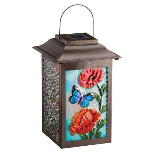 Regal Arts SS-Rag-11469 16.5 Inch Solar Garden Butterfly Lantern by Regal Arts