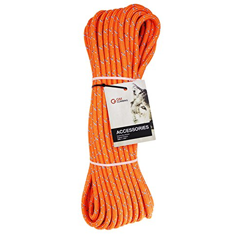 GM CLIMBING 30kN Double Braid Rigging Line Rope 11.5mm / 7/16in All Polyester for Hauling Dragging Zipline 100ft (Rope Lanyard Polyester)