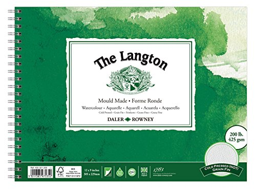 Daler Rowney Langton Watercolour Spiral Pad 425 gsm (305 x 229mm) NOT