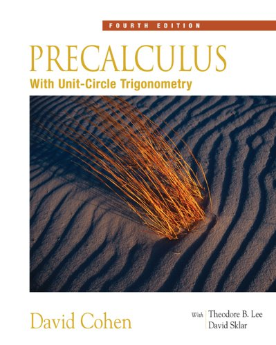 Precalculus: With Unit Circle Trigonometry (Available 2010 Titles Enhanced Web Assign) Pdf