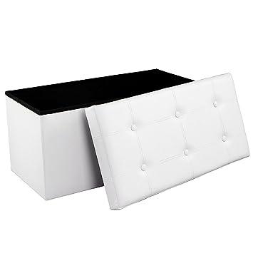 Songmics Sitzbank Sitzhocker mit Stauraum faltbar 2-Sitzer ...