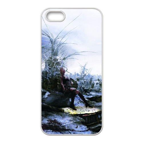 Aya Brea Parasite Eve coque iPhone 5 5S Housse Blanc téléphone portable couverture de cas coque EBDOBCKCO11927