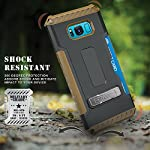 Galaxy S8+ Case, Autumn Camouflage Tree CAMO Real Woods TRI-Shield Rugged CASE Cover with Magnetic Kickstand + Lanyard Strap + Credit Card Wallet Slot for Samsung Galaxy S8 Plus Phone (SM-G955), S8+ 10 COMPATIBILITY: