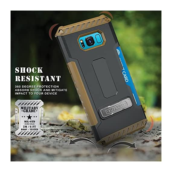 Galaxy S8+ Case, Autumn Camouflage Tree CAMO Real Woods TRI-Shield Rugged CASE Cover with Magnetic Kickstand + Lanyard Strap + Credit Card Wallet Slot for Samsung Galaxy S8 Plus Phone (SM-G955), S8+ 3 COMPATIBILITY: