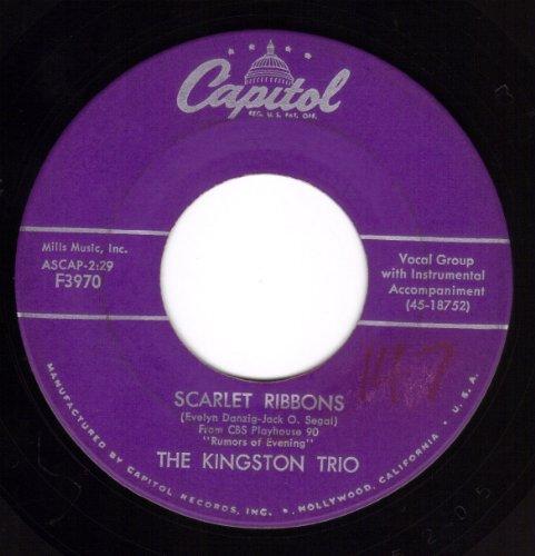 Scarlet Ribbons/Three Jolly Coachmen (NM 45 rpm) (Jolly Ribbon)