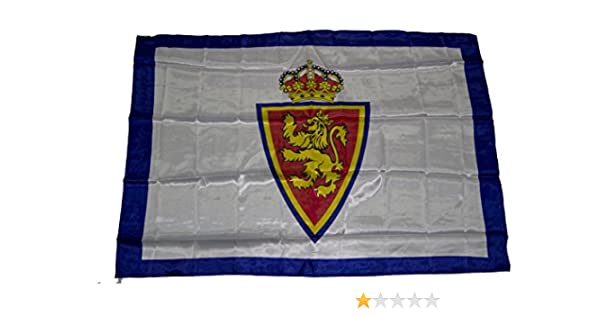 Real Zaragoza Badzar Bandera, Azul/Blanco, Talla Única: Amazon.es ...