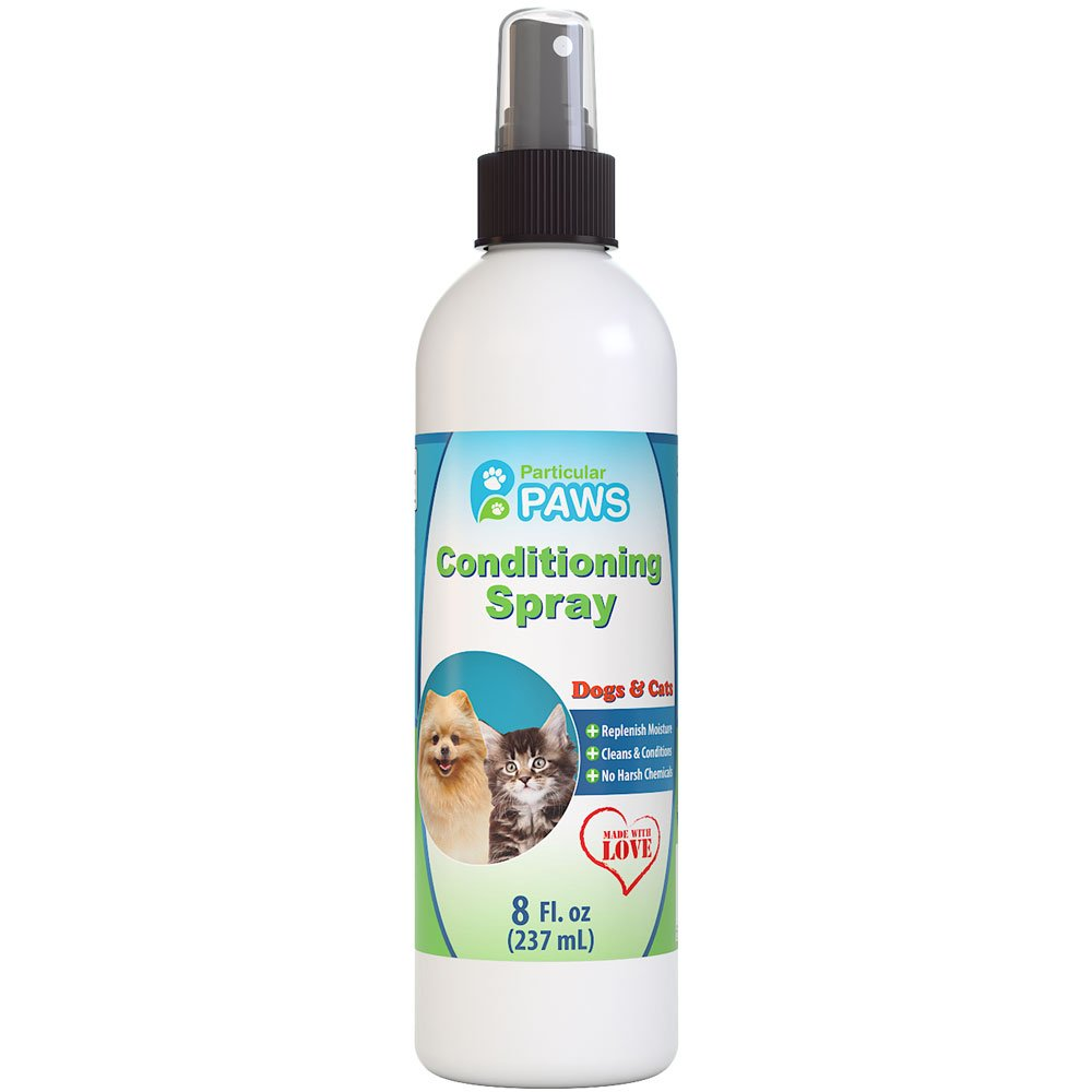 Particular Paws Conditioning Spray for Dogs and Cats - Deodorizes, Conditions, Detangles & Freshens - Between Baths - Cucumber Melon - 8oz