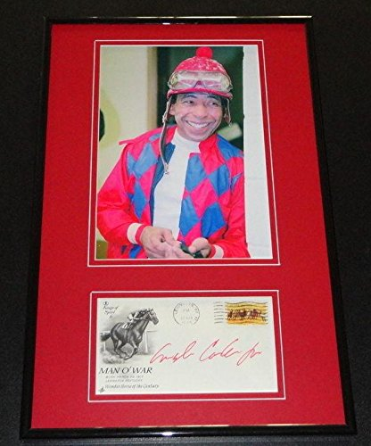 Angel Cordero Signed Framed 11x17 Photo Display - Autographed Horse Racing Miscellaneous Memorabilia (Miscellaneous Photos Autographed)
