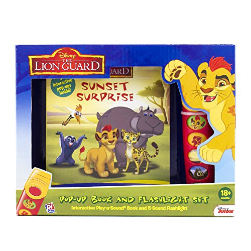 Battle Kings Playset - Disney The Lion Guard - Pop-Up Board Book and Flashlight Set - PI Kids