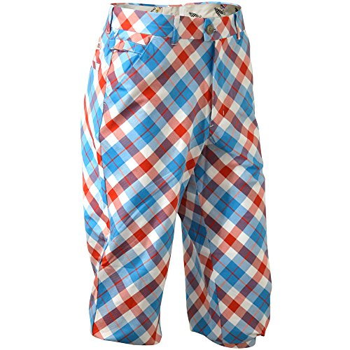 Royal & Awesome Men's Golf Knickers, Plaid a Blinder, 36