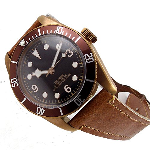 41MM Coffee Sterile Dial Sapphire Glass 21 Jewels Miyota Automatic Movement Men's Watch Luminous Marks