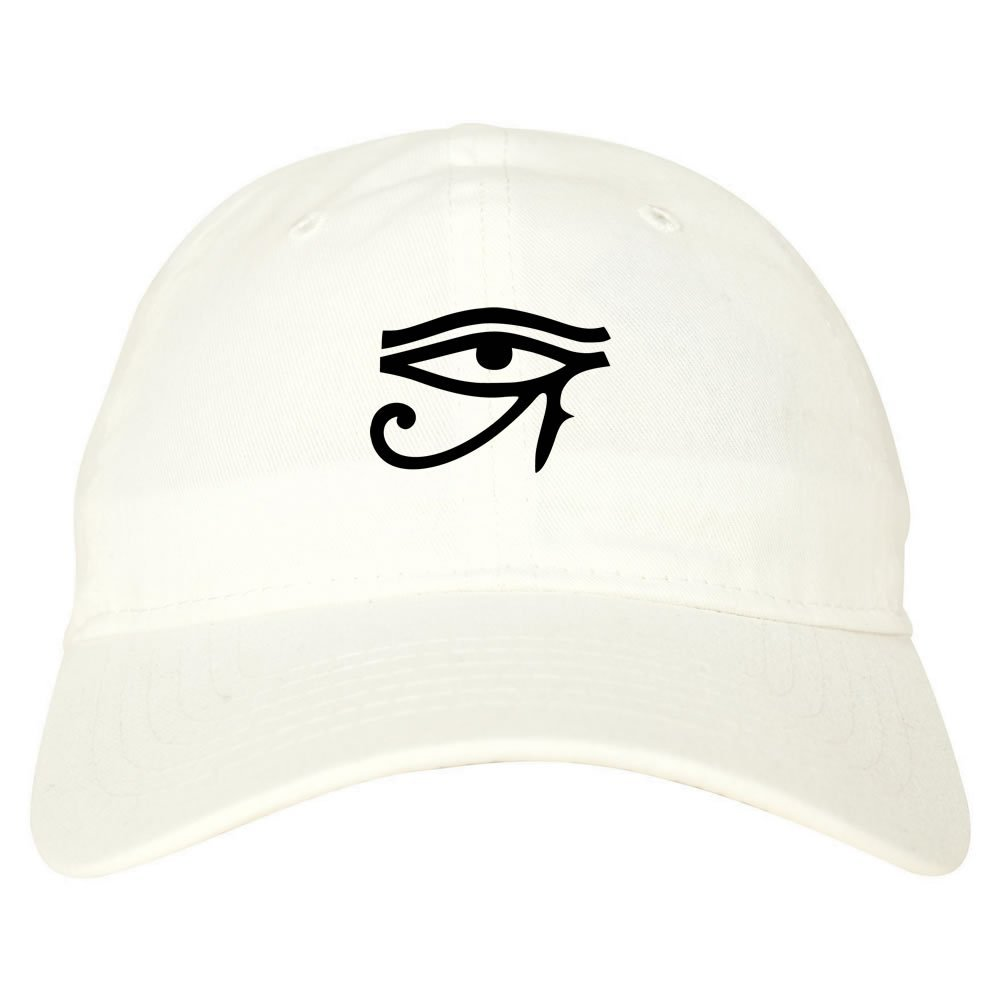 b1c23cf45cd Kings Of NY Eye of Horus Egyptian 6 Panel Dad Hat Cap Beige at Amazon Men s  Clothing store