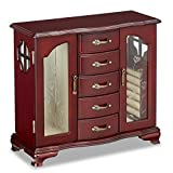 Jaclyn Smith Cherry Wood Upright Jewelry Box