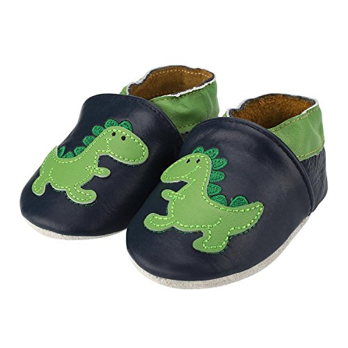 5a7c4db4d2a83 Sibba Baby Boys Girls Soft Sole Leather Moccasins Baby Shoes Crib Shoe  (Infant/Toddler) (0-6 Months, Green Dinosaur)