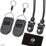 2x Protective Case for Trezor Bitcoin/Cryptocurrency Wallet + 2x Adjustable Lanyard with Detachable Connector - Tailor Made Fit, Designed Specifically for the Trezor One - Clear View, Easy Control