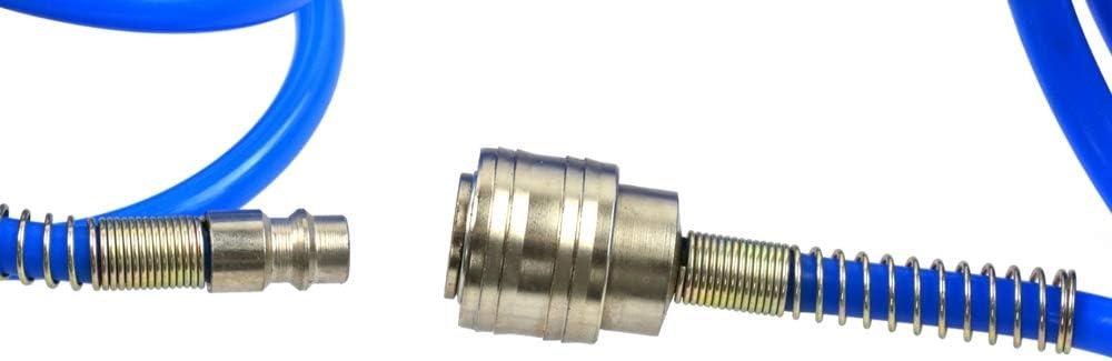 Druckluftschlauch Spiralschlauch Luftschlauch Kompressorschlauch 5x8mm L/änge 15m flexibel