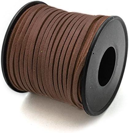Beige RUBY- Suede Cord Bobbin 3mm // 25Meters Antelina
