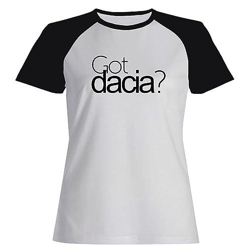 Idakoos Got Dacia? - Nomi Femminili - Maglietta Raglan Donna