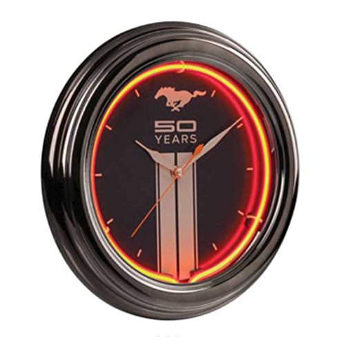 Ford Mustang Fifty Years Neon Clock