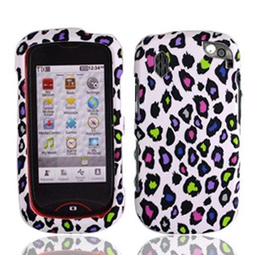 LF Designer Hard Case Cover, Stylus Pen & Wiper for Verizon Pantech 8992 Hotshot (Leopard)
