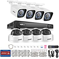 [Professional POE] ANNKE 8CH POE Security System 1080P NVR and (8)HD 2.0MP IP Cameras, 1/2.8 Progressive Scan CMOS with IP66 Weatherproof